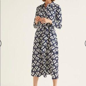 NWT Boden Isodora Midi Shirt Dress, size US 8R